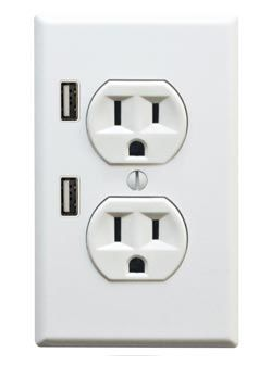 U-Socket Dual USB Wall Socket.      Note this wall socket was designed not to be an energy vampire, so power is only transferred when USB device is plugged in, making it a energy-friendly upgrade!