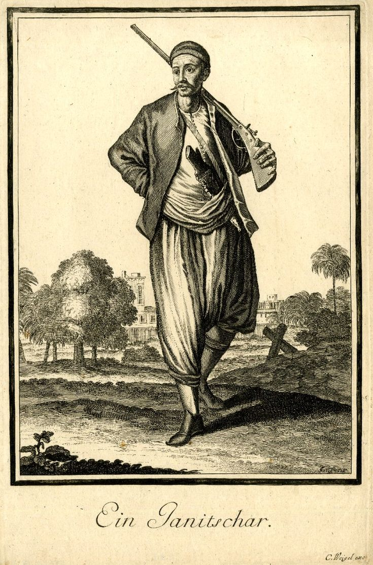 "84 A Janissary. Abraham a Sancta Clara's ""Neu-eröffnete Welt-Galleria"", 1702. Prints after Caspar Luyken."