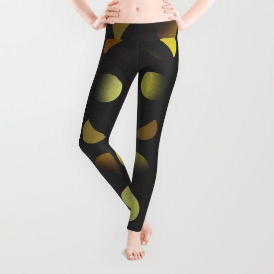 Golden moons dark circles by Natalia Bykova Leggings on Society6. #legs, #leggings, #Society6, #leggingsmania, #leggingslove, #printedleggings, #uncommonleggings, #unusualleggings, #abstractdesign, #circles, #goldblack, #goldenblack, #dotted