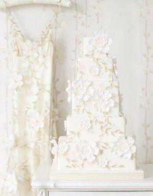 Flora Abundance Wedding Cake