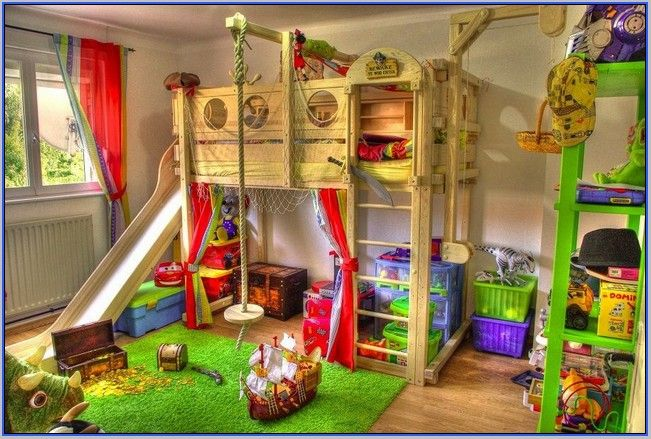 Pirate Ship Bunk Bed With Slide