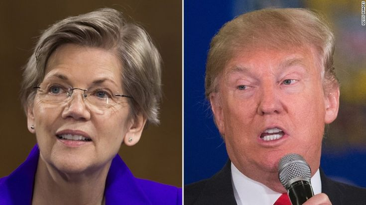 """Warren blasts Trump; he calls her 'Pocahontas' - """"Let's be clear,"""" Warren said. """"Nurses and teachers and dockworkers, they pay their fair share to keep Trump's businesses going. Programmers and engineers and small business owners, they pay their fair share to support our military, who show courage and sacrifice every day."""" """"Donald Trump thinks that supporting them is throwing money down the drain? Then I say we throw Donald Trump down the drain."""""""