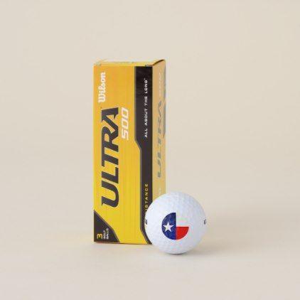 Texas Flag Wilson Golf Balls - diy cyo customize create your own personalize