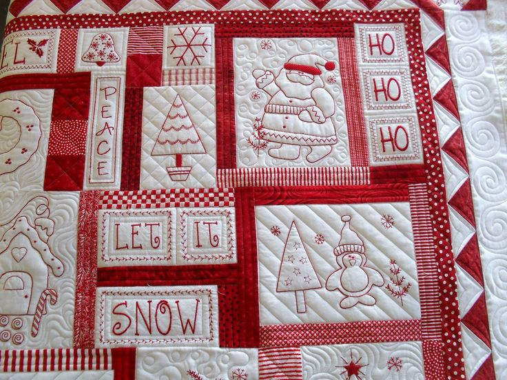 106 Best Quilts Redwork Images On Pinterest Embroidery