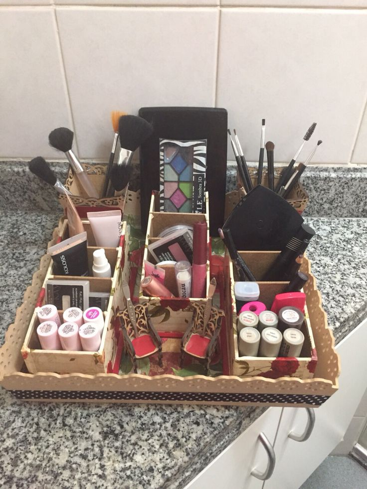 Organizador de maquiagem
