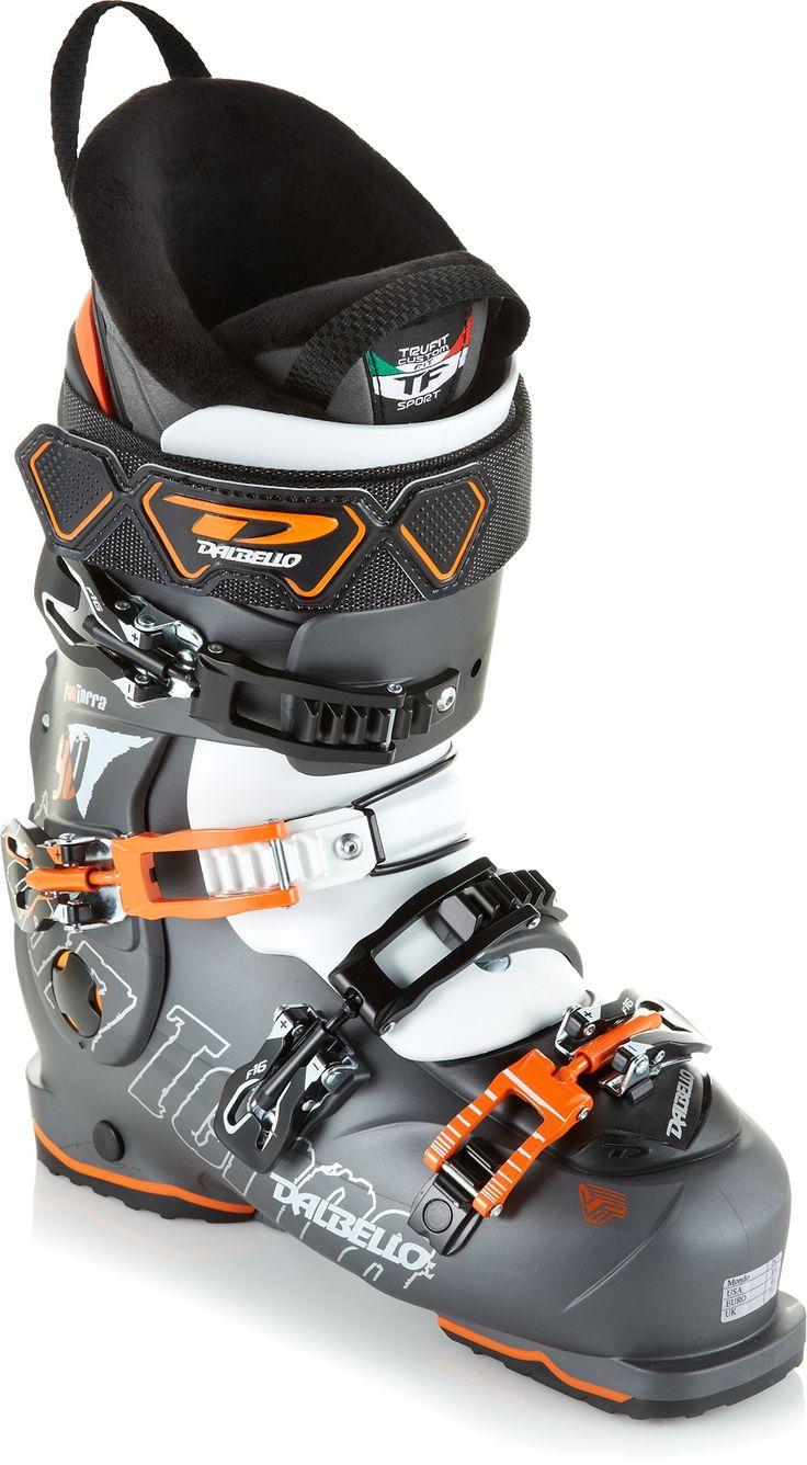 A medium flexing boot for intermediate skiers on rockered skis—Men's Dalbello Panterra 90 Ski Boots - 2013/2014.