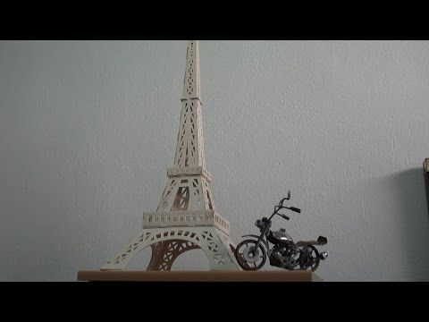 La Torre Eiffel travail de marqueterie - YouTube