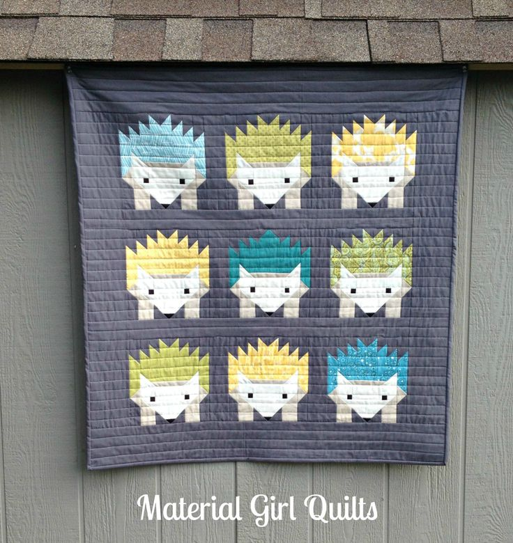 Hazel and the Hedgehogs {a finished quilt!}