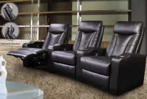 3 Seated Theatre Recliners - Coaster 600130-3