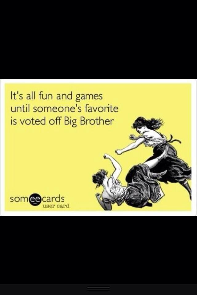 It's all fun and games until... #BB15  I was sad for Judd and Kaitlyn :(  but shit WILL go down when Spencer leaves!