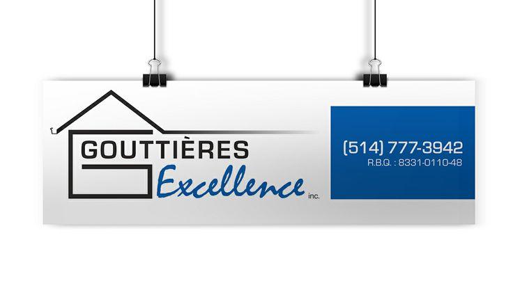 Affiche coroplast pour Expo Habitation  GOUTTIÈRES EXCELLENCE Frédérick Legault Installation de gouttière 7490, rue Des Géraniums Terrebonne, QC J7M 1H7 (514) 777-3942  ---  CRÉATION ET IMPRESSION TERREBONNE Contactez www.iplasma.ca