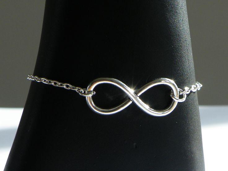 Bracelet chaîne argenté breloque infinie : Bracelet par jl-bijoux-creation