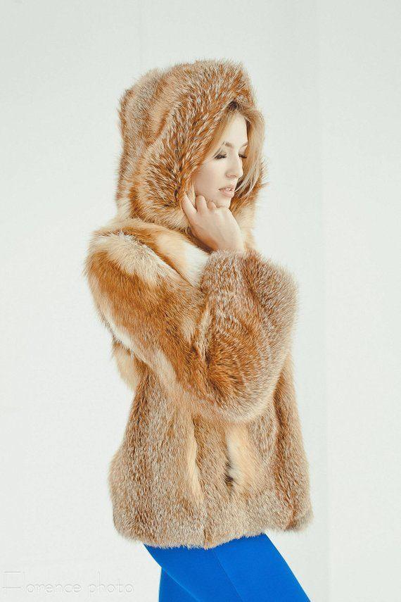 70869f3b6e00 Fox Fur Coat - Womens Winter Jacket - Oversized Fur Coats - Luxury gift for  wife