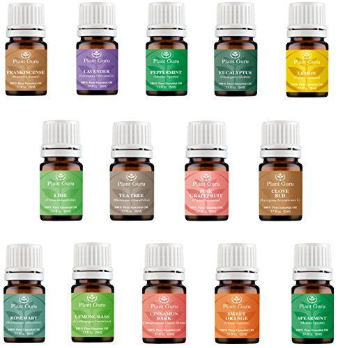 Essential Oil Set 14 5 Ml Pure Therapeutic Grade Includes Frankincense Lavender Peppermint Rosemary Orange Tea Tree Eucalyptus Grapefruit Lemon Lime Clove