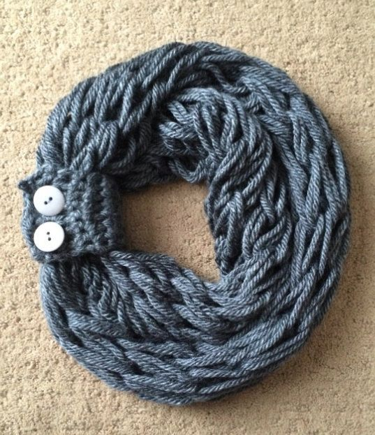 Arm knit infinity scarf with matching button cuff on Etsy, USD18.00 Crafts ...