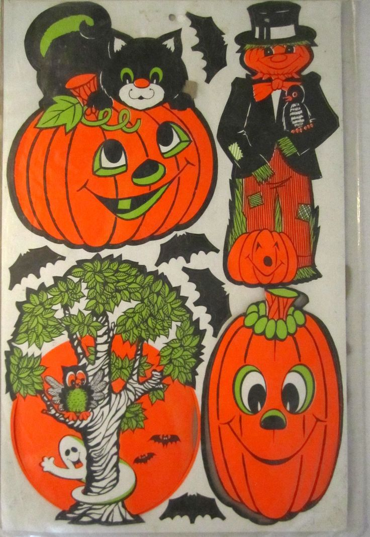 halloween decoration kit from the 1970s