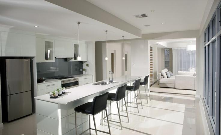 White Kitchen Dark Grey Splashback Kitchen Ideas