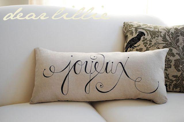 Dear Lillie: Joyeux Noel Sharpie Pillows, More Christmas Decorating and SNOW!