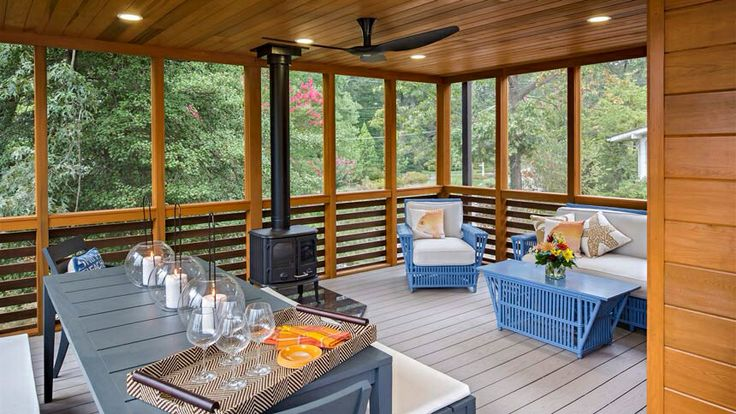 87 best back deck ideas images on pinterest for Prefab screened porches