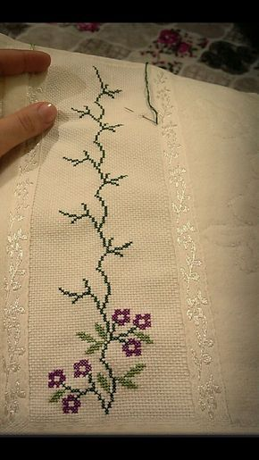"Cenefas toallas colchas etc [ ""Screenshots"", ""Hsvlu"" ] # # #Screenshots, # #Cross #Stitch"