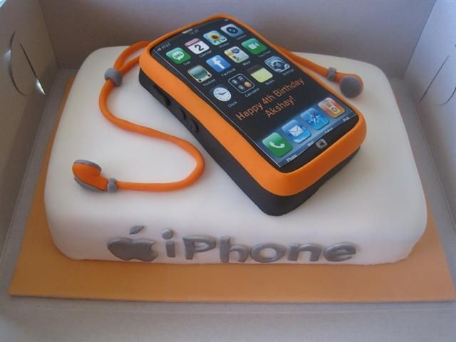 iPhone Birthday Cake Edible Bliss Cakes Pinterest