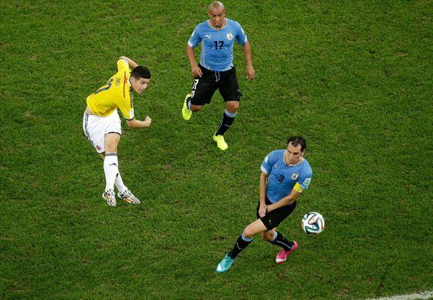 James Rodríguez, mejor gol contra Uruguay