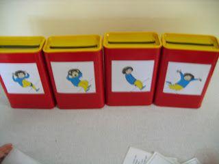 thema gevoelens: brievenbus bijv. van blik babyvoeding of verpakking nesquik