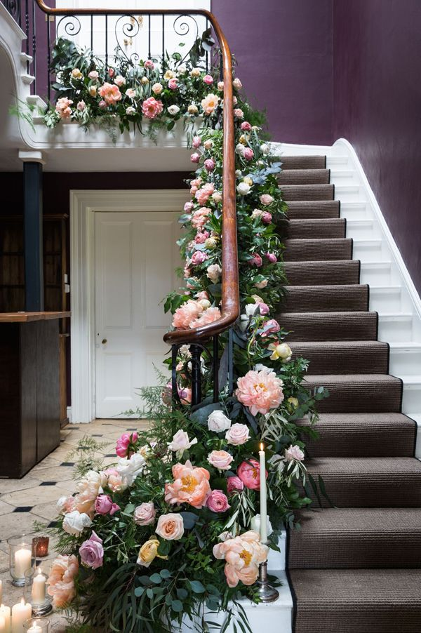 46 best staircase garlands images on Pinterest Stairs