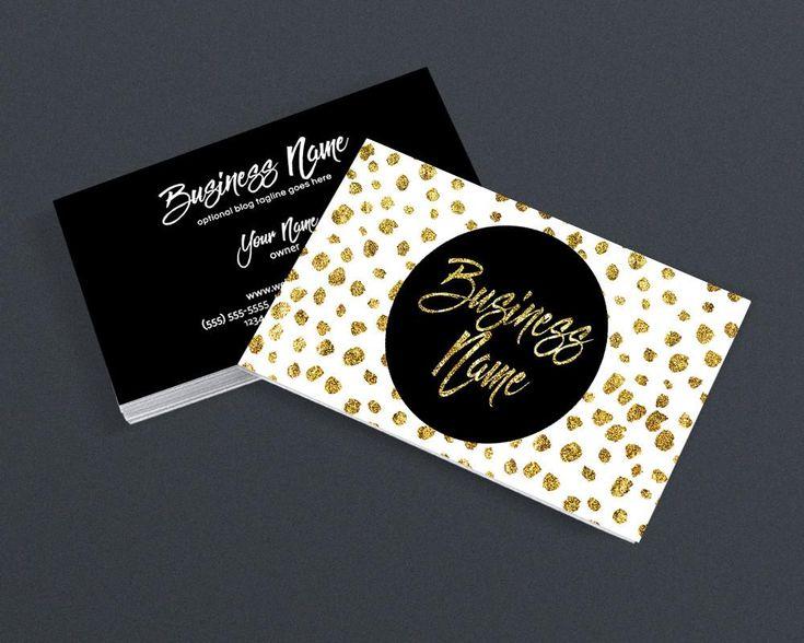 Gold Polka Business Card Design