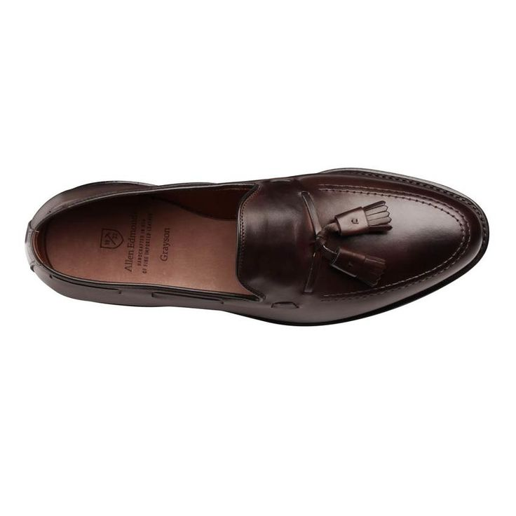 $395 Grayson Dress Loafer  by ALLEN EDMONDS  Opposites attract. And when it comes to the Grayson, consistently one of our top sellers, that same axiom has proven true when it comes to shoe styling as well. Yes, this model's clean profile gives it the respectability of a dress shoe, but it is also delivers the gratifying convenience of a loafer.
