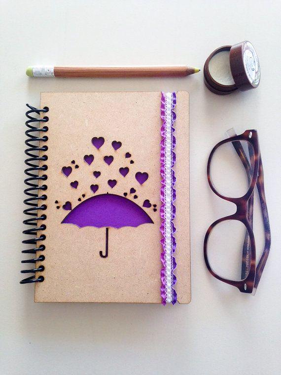Lluvia de corazones Notebook, diario de amor de aniversario regalo diario, hogar la lluvia, cubo lista diario, pequeño cuaderno, diario, cuaderno de bocetos
