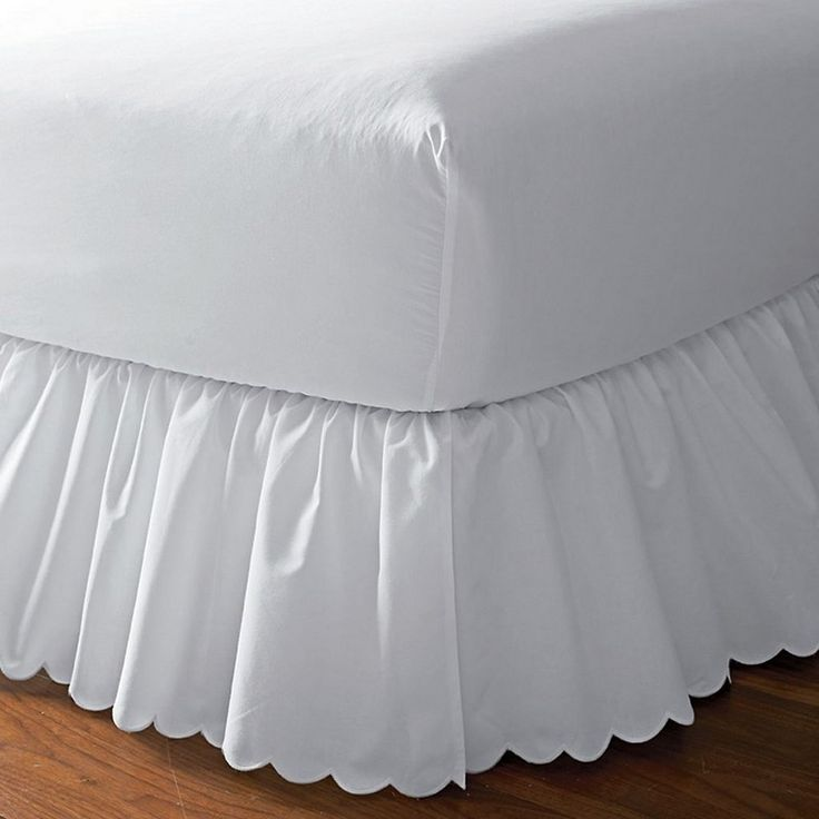 Detachable Scalloped Embroidered Bedskirt