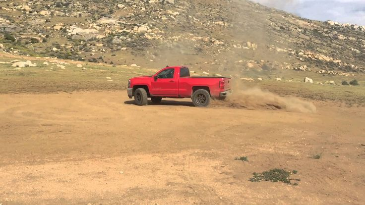 Burn out with a 2016 Chevy Silverado Single Cab Off-Roading ...