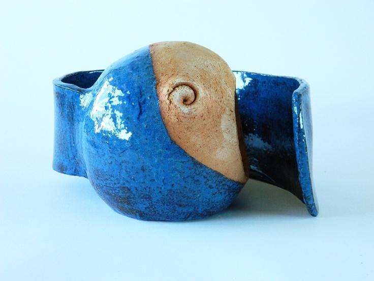 Emanuele Scoppola - Blue fish yawning (profile)