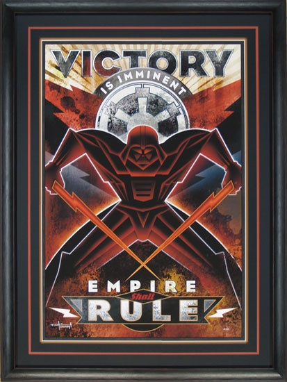 Star Wars - Victory is Imminent - Framed - Mike Kungl - World-Wide-Art.com - $895.00 #StarWars #Lucas