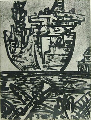 Jan Senbergs Leaving Port, 1992 Lithograph, 57 x 43 cm