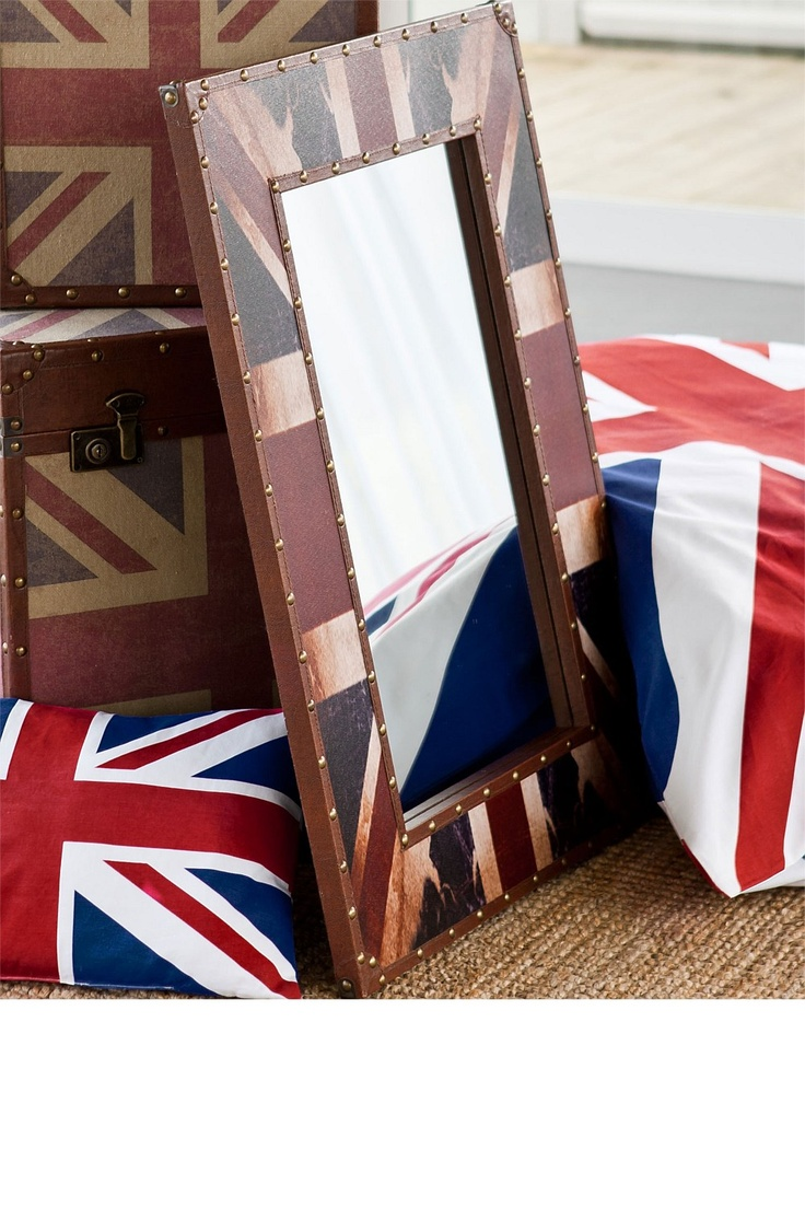 Decorative Accents - Union Jack Mirror - EziBuy New Zealand