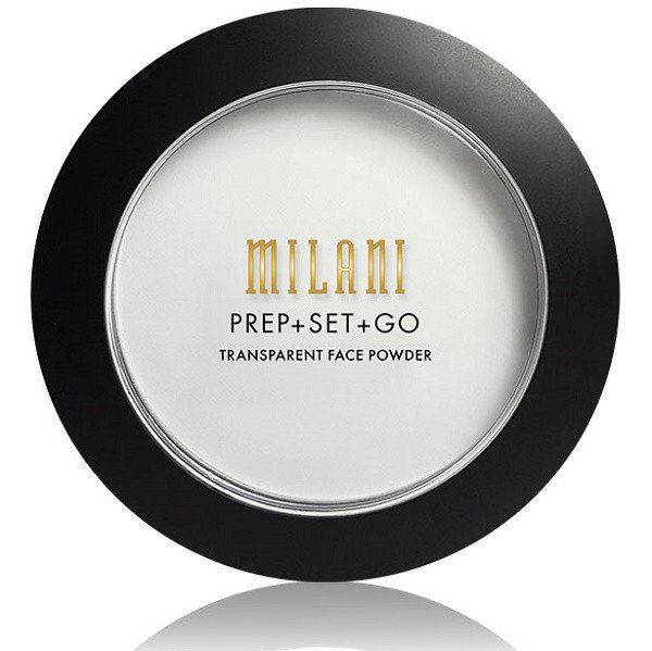 Prep + Set + Go Transparent Face Powder by Milani Cosmetics. Milani Prep + Set + Go Transparent Face Powder is a complexion-smoothing primer that blurs the look of large pores and fine lines, sets you