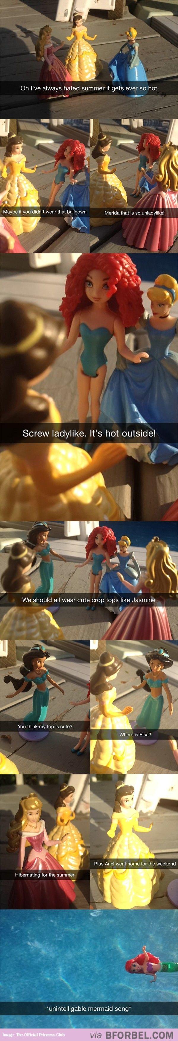 Disney Princess Summer Problems…