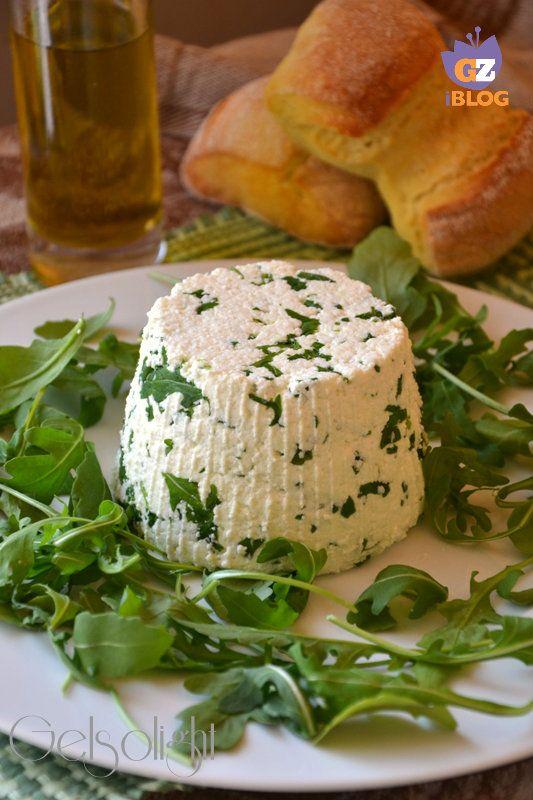 formaggio con rucola fatto in casa vert