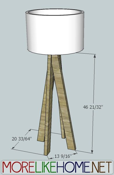 Build a Funky Modern Lamp out of 2x4s with MoreLikeHome.net.  May do a short, table-top version...