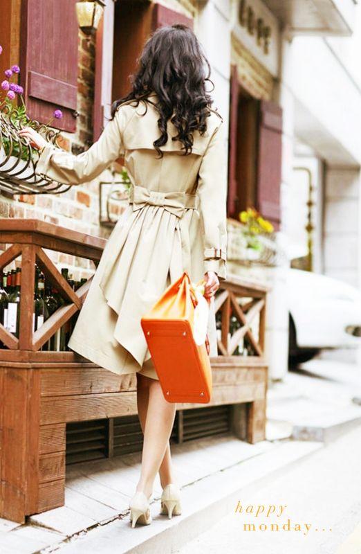 orange bag.