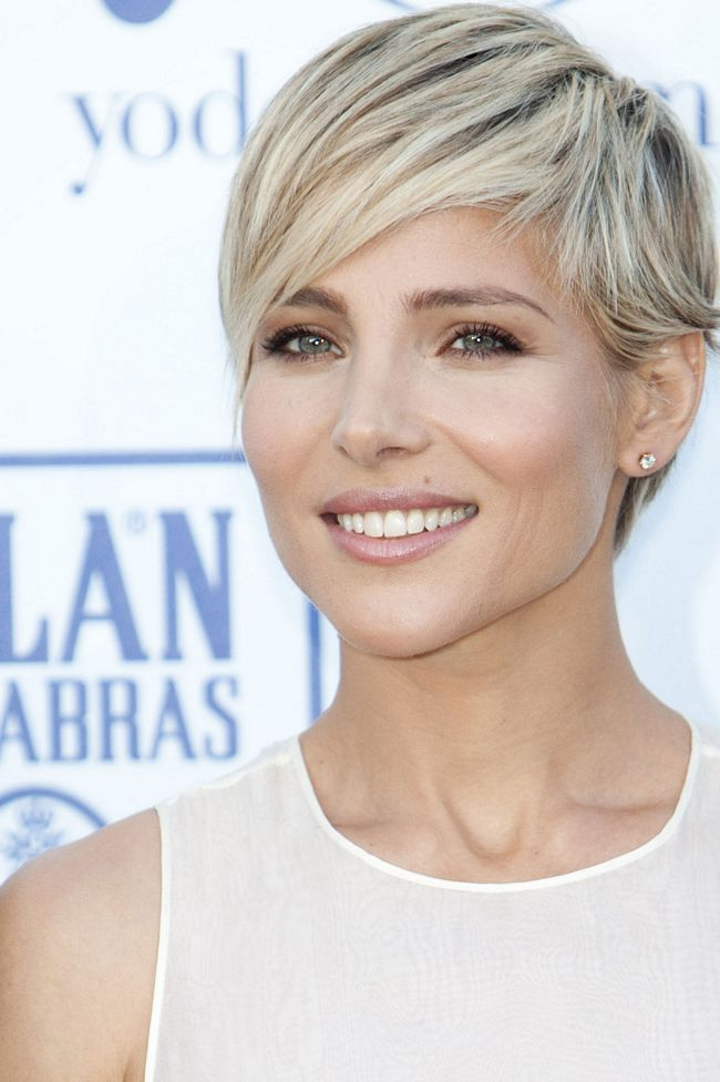 Elsa Pataky's short hair