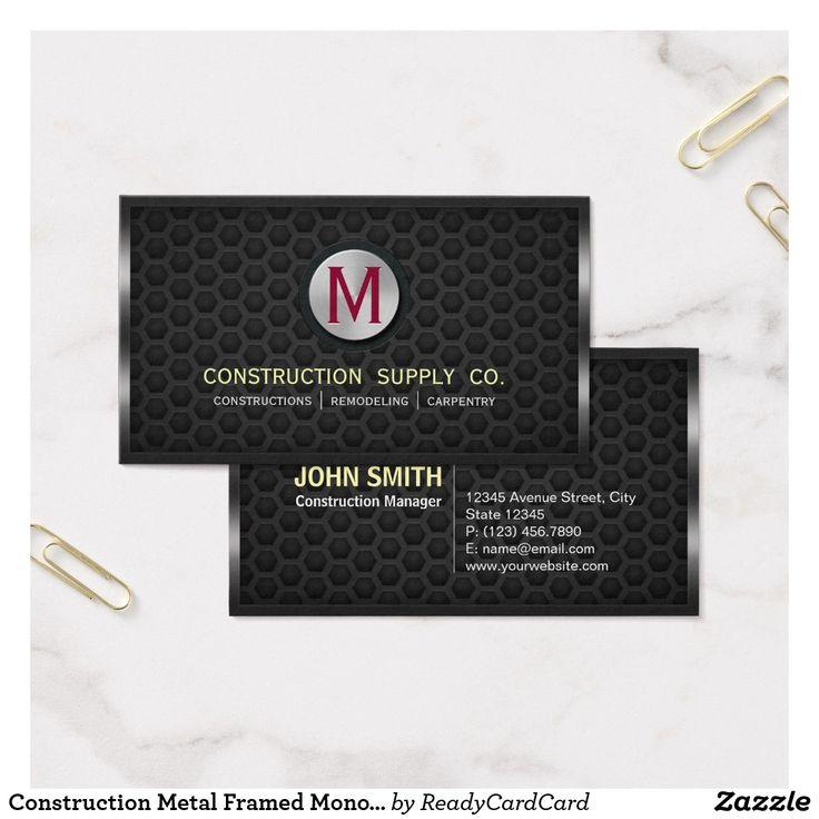 70 best Business Cards: Construction images on Pinterest | Building ...