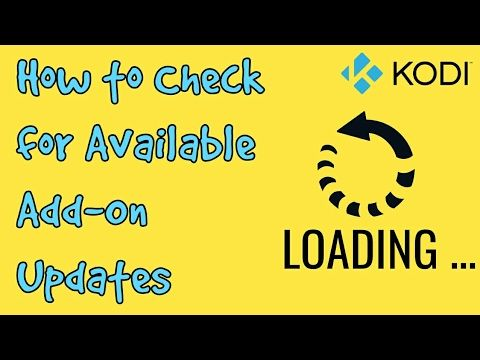 How to Force Check For Updates on Kodi Add-ons and Repos - YouTube