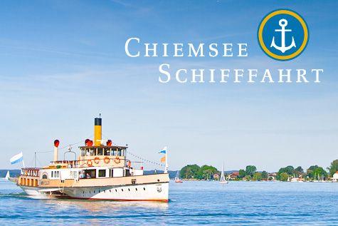 Prien, Chiemsee, Herreninsel - from Prien Bahnhof to steam railway, and ship to island RT
