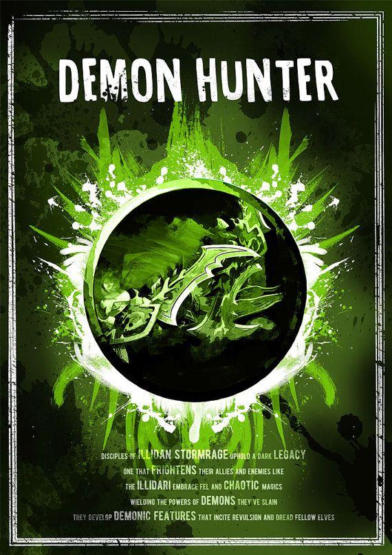 World of Warcraft: Demon Hunter Class Symbol by SodaArcade on Etsy