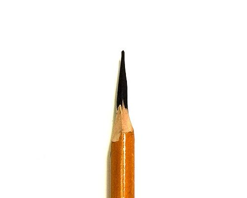 Sharpening Charcoal Pencils diagram image