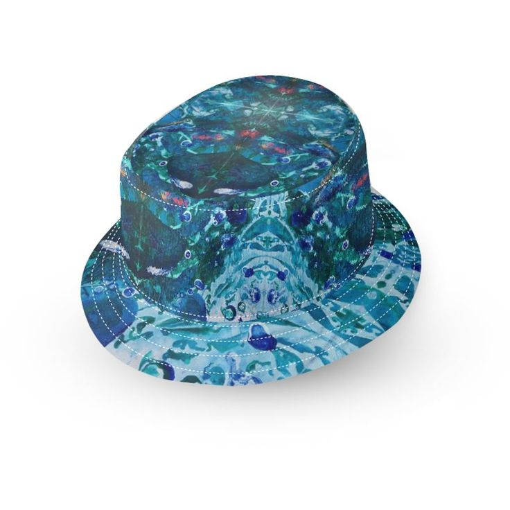 Look Into the Deep Bucket Hat by @anoellejay and @contrado_uk   Summer blues and ocean colors for protection against the sun while in the beach and exploring!