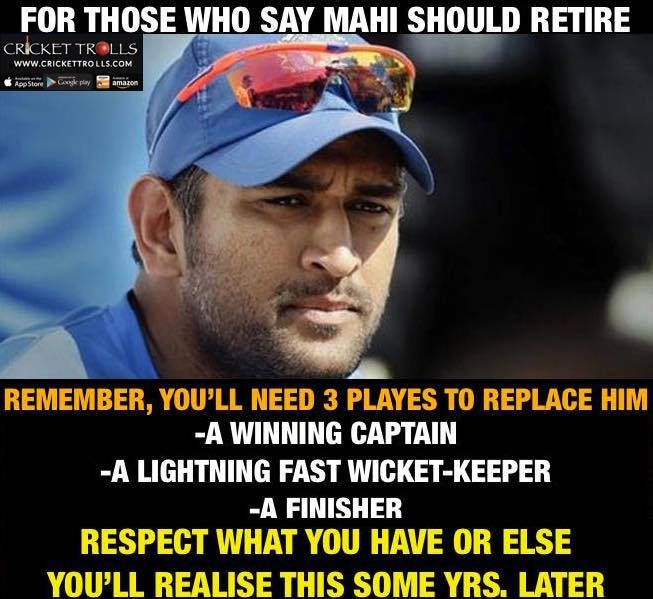 This is why MS Dhoni has BILLIONS of FANS with just 1000's of HATERS - http://ift.tt/1ZZ3e4d